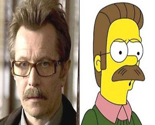 Gary Oldman and Ned Flanders