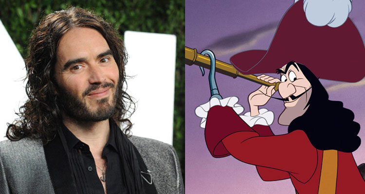Russell Brand and Captain Hook