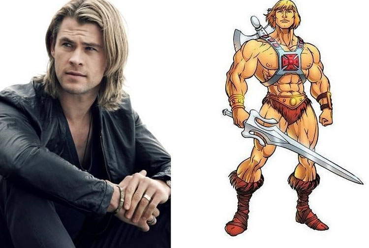 Chris Hemsworth and He-Man