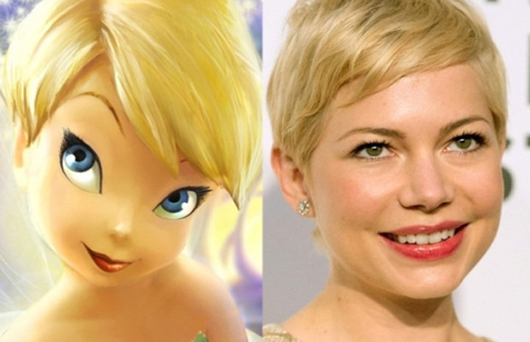 Michelle Williams and Tinkerbell