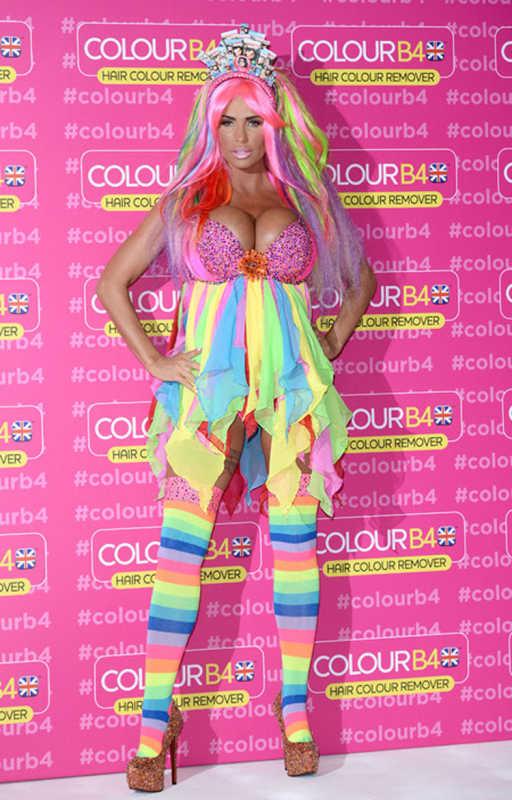 Katie Price Rainbow Dress
