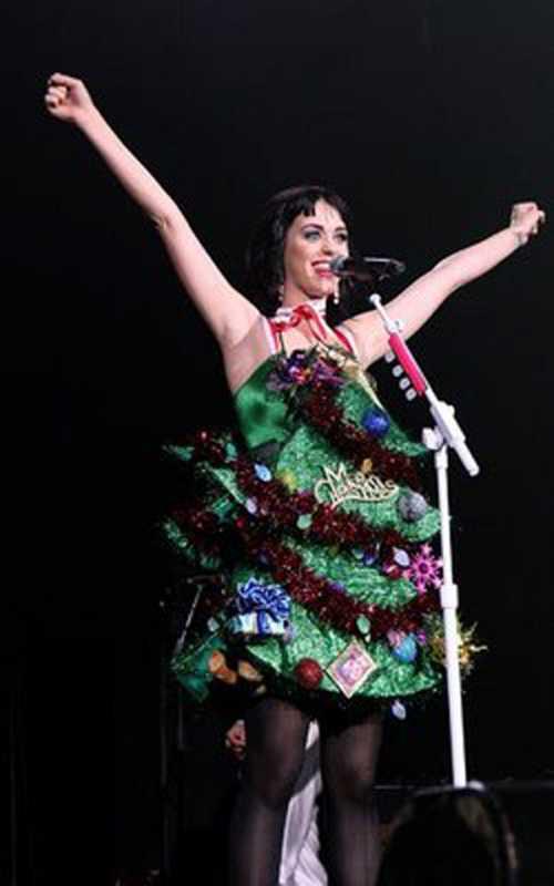 Katy Perry Christmas Tree Dress