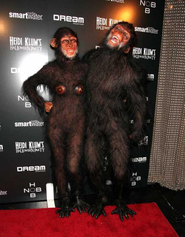 Heidi Klum and Seal Ape Costume