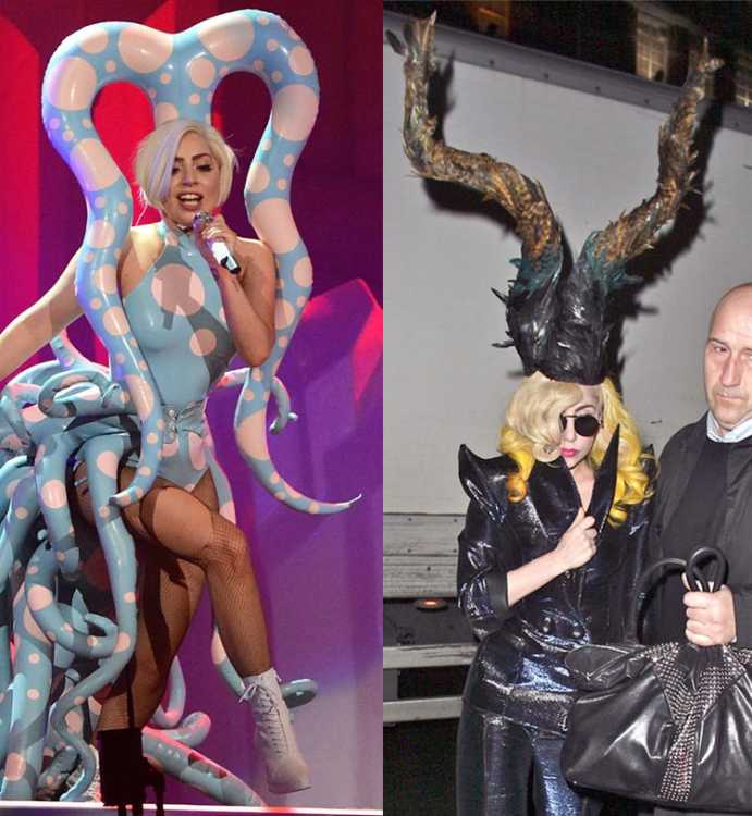Lada Gaga and her very odd looking outfits