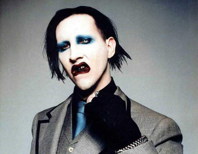 Marilyn Manson looking strange as always
